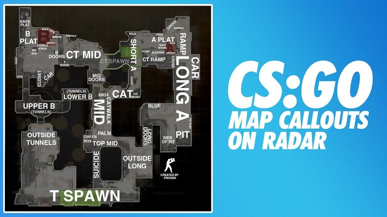 CSGO Radar Map Callouts - Competitive Guide | CS:GO Book